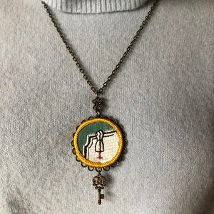 Gina Burns Jewelry - Girl Scout Badge Necklace - NWT